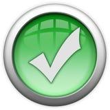 Greifen Sie auf bewilligte grüne Taste zurück Lizenzfreie Stockbilder