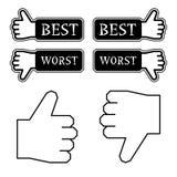 Greifen Sie beste falschste Kennsätze ab Lizenzfreies Stockbild