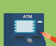 Greifen Sie zu ATM-Maschine zu Lizenzfreie Stockbilder