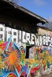 GREIFSWALD, GERMANY - FEBRUARY 29 2016 : Abandoned building with graffiti Stock Images