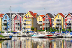 Greifswald harbour houses Royalty Free Stock Photo