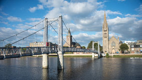 Greig Street bridge Inverness Royalty Free Stock Image