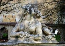 GREILLENSTEIN, AUSTRIA: barokowa statua chimera Obraz Stock