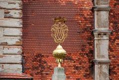 GREILLENSTEIN, AUSTRIA: l'estremità di un obelisco ha modellato come un monogramma Fotografia Stock Libera da Diritti