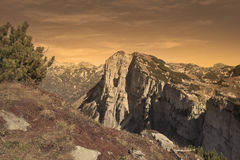 Greimuth. Toned sky over Greimuth mountain, Totes Gebirge, Austria Royalty Free Stock Photography