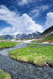 Greina mountain valley Royalty Free Stock Image