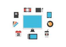 Grej för grafisk formgivare stock illustrationer