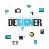 Grej för grafisk formgivare vektor illustrationer