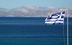grek bandery zdjęcie stock