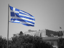 grek bandery Zdjęcia Royalty Free