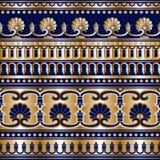 Grek dell'oro senza cuciture Fotografie Stock