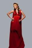 grek för klänningflickagudinna Royaltyfri Foto