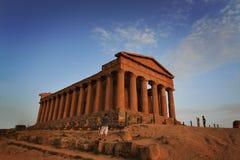 Grek fördärvar av den Concordia templet Royaltyfri Bild