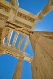 Grek fördärvar av Parthenon på akropolen i Aten, Grekland Royaltyfri Foto