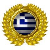Grek flaga Fotografia Royalty Free