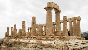 Grek Hera lub Juno świątynia przy Agrigento Obrazy Royalty Free