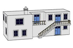 Grek house1 ilustracji