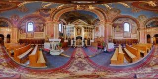 Grek-katolik Bob Church Interior i Cluj-Napoca, Rumänien Arkivfoton