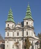 Grek-katolik kyrka i Ternopil, Ukraina Arkivfoto