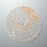 Grek Maze Puzzle Challenge med lösningen stock illustrationer