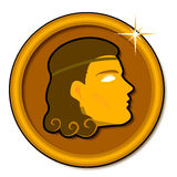 grek monet Zdjęcia Royalty Free