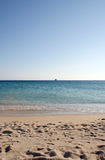 grek na plaży obraz stock
