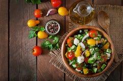grek słodkiej odosobnionej ścieżki warzywa sałatkowi białe Zdjęcie Stock