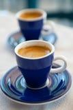 grek två för kaffekoppar Arkivfoton