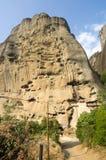 Grek vaggar kloster Arkivfoto