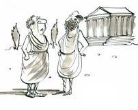 Greker royaltyfri illustrationer