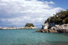 Grekisk ö av Korfu Royaltyfria Bilder
