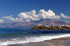 Grekisk ö av Korfu Fotografering för Bildbyråer