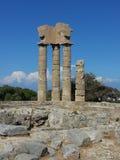 Grekisk ö av Rhodes Arkivbilder