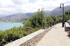 Grekisk ö för landskap av Kreta Arkivfoto