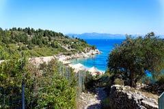 Grekisk ö Paxos, Grekland, Europa Fotografering för Bildbyråer