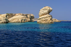 Grekisk ökustlinje Royaltyfri Fotografi