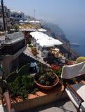 Grekisk balkong Arkivfoto