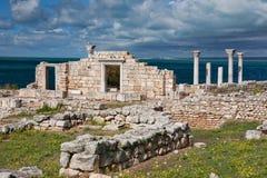 Grekisk basilika på Chersonesus arkivbild