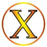Grekisk bokstav för Chi vektor illustrationer