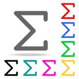 Grekisk bokstavssymbol för Sigma Beståndsdelar i mång- kulöra symboler för mobila begrepps- och rengöringsdukapps Symboler för we royaltyfri illustrationer