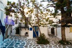 Grekisk borggård Arkivbild