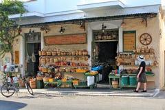 grekisk by för maskinvarulager arkivfoto