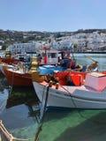 Grekisk fiskebåt Fotografering för Bildbyråer