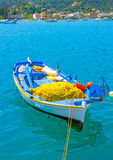 Grekisk fiskebåt Arkivbilder