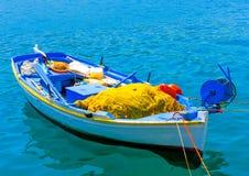 Grekisk fiskebåt Arkivfoto