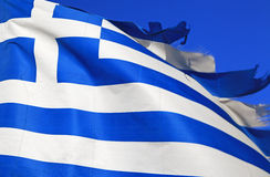 Grekisk flagga Royaltyfria Foton