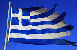 Grekisk flagga Fotografering för Bildbyråer