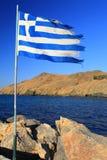 Grekisk flagga Royaltyfri Foto