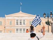 Grekisk flagga, Aten Arkivfoton