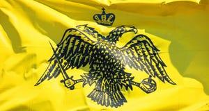 Grekisk flagga för ortodox kyrka Fotografering för Bildbyråer